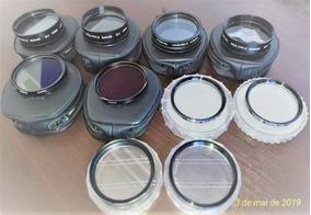 9 Filtros Fotográficos+1 Anel Adaptador 49-52mm Focal Japão