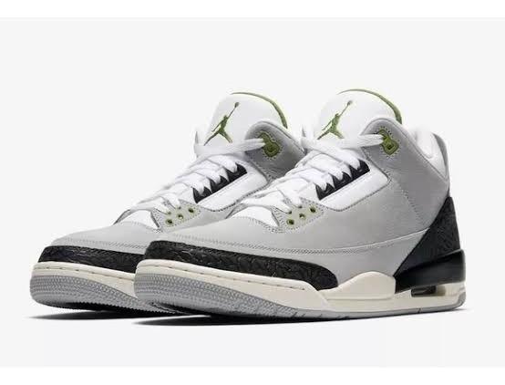 Jordan Retro 3 Gris Verde Original