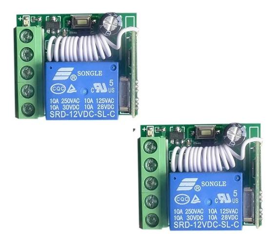 Kit 02 Modulo Relé Rf 433mhz Dc12v 1ch Pulso Retenção Temporizado Automação (broadlink)