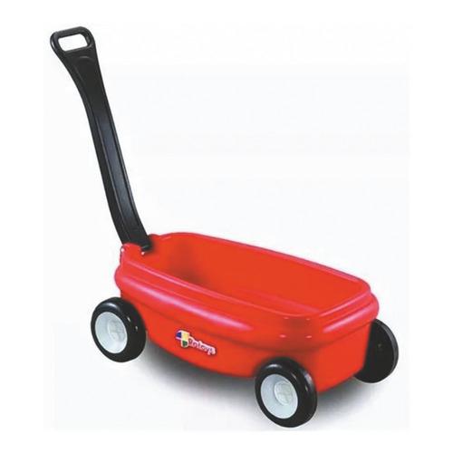 Mini Carro Rojo Con Manija Negra Rotoys Original Cuotas