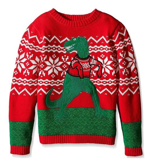 Christmas Ugly Sweater Suéter Feo Navidad T-rex Tas Chico
