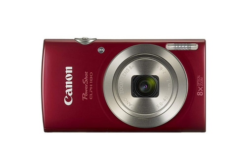 Canon Powershot Elph 180 Red Cámara Fotografica 20mp Hd 8x