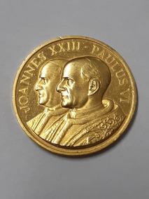Moeda Comemorativa João Xxiii Paulo Vi Em Ouro