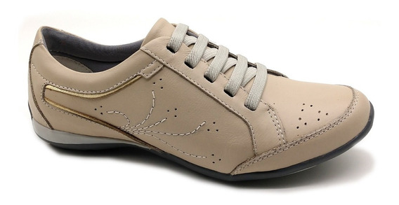 Sapato Sapatênis Feminino Casual Couro Bmbrasil 229/01
