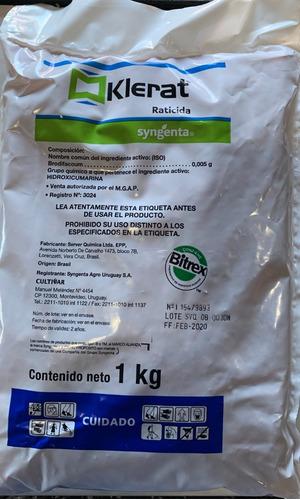 Imagen 1 de 5 de Raticida Klerat Nuevo Envase 1 Kilo