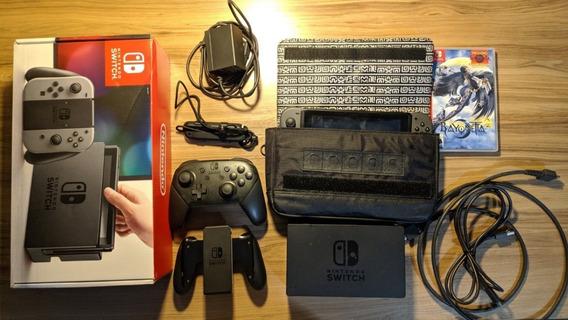 Nintendo Switch 32gb Cinza + 11 Jogos