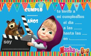 Kit Candybar Editable Para Imprimir - Masha Y El Oso