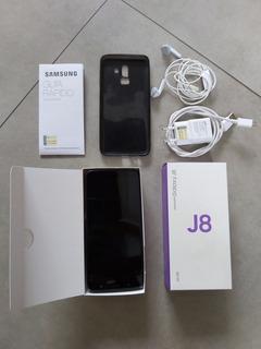 Samaung Galaxy J8 Plus 64 Gb Preto. Grátis Hardcase P Cartão