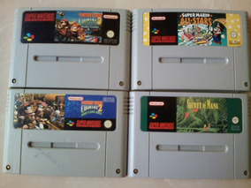 04 Cartuchos De Video Game Super Nintendo Originais Europeus