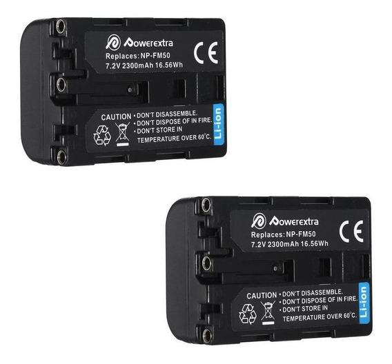 2 Baterías X Np-fm50 Para Cámaras Sony Alpha Cyber-shot Ccd