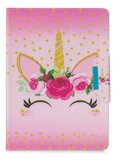 Capa De Tablet Capa De Couro Pu Flor iPad 5/6/7/8