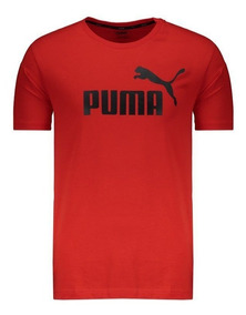 Camiseta Puma Essentials Logo Vermelha