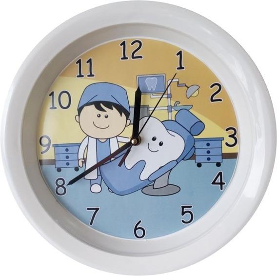 Reloj De Pared Dentista Y Muelita