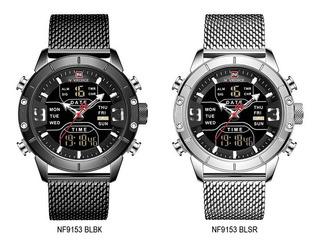 Naviforce Nf9153 Reloj Estilo Moderno_malla Acero_calidad