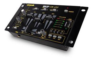 Consola Mixer Mezclador Dj Skp Sm-65 3 Canales Usb 101db