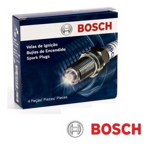 Imagem 1 de 2 de Jogo 4 Velas Bosch Bmw 118i 2.0 16v 2007 À 2011