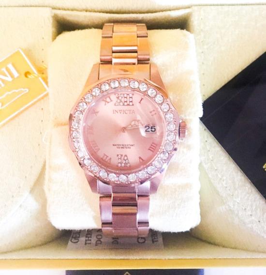 Relógio Invicta Feminino 15252 Crystal Original Promoção