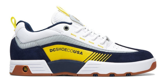 Tenis Dc Shoes Legacy 98 Slim White Yellow Red Original