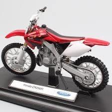 Moto De Colección Honda Cr250r Escala 1 /18 Welly
