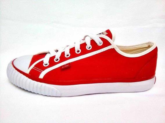 Tenis Levis Casuales Rojos Con Blanco Unisex
