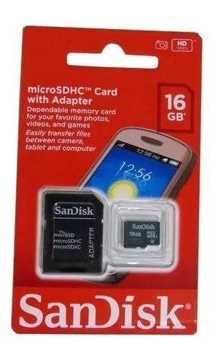 Kit 5 Cartões 16 Gb Sandisk Originais