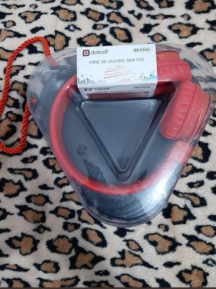 Fone De Ouvido Bluetooth Vermelho