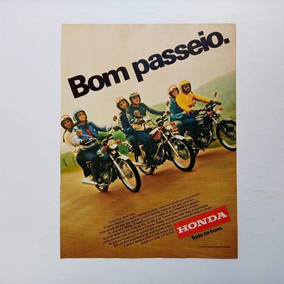 Honda Cg 125 - Propaganda Antiga, Anúncio, Publicidade