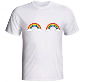 Camiseta Arco Íris Duplo Céu Natureza Beleza