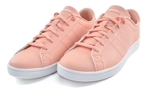 Tenis adidas Advantage Clean Rosa Mujer Original F34708