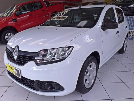 Renault Sandero 1.0 Flex 2018 Completo Sem Entrada 48x 990,