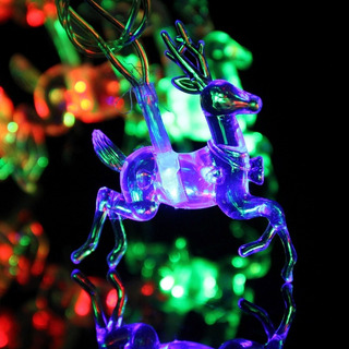 Serie Navideña Led Renos 4m 20 Luces Impermeable Multicolor