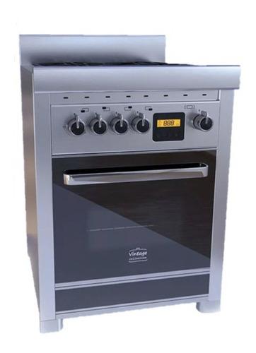 Imagen 1 de 1 de Cocina Morelli Vintage Touch 600 a gas/eléctrica 4 hornallas  negra 220V puerta  con visor