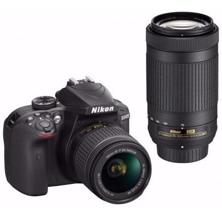Câmera Nikon D3400 Kit 24mp Af-p 18-55 E 70-300 Vr P/ Entreg