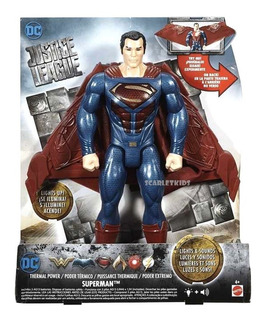 Superman Figura 30 Cm Dc Mattel Luz Y Sonido Traje Tactico