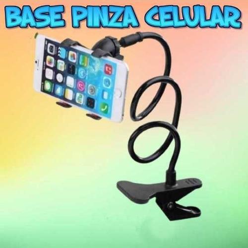 Base Para Celular Con Pinza Flexible