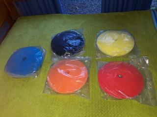 Pad Bonete Esponja Pulido 6 Pulg Con Velcro (el Par)