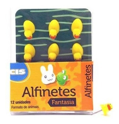 Alfinetes Decorativos Cis Fantasia Pato Estojo Com 12 Unds