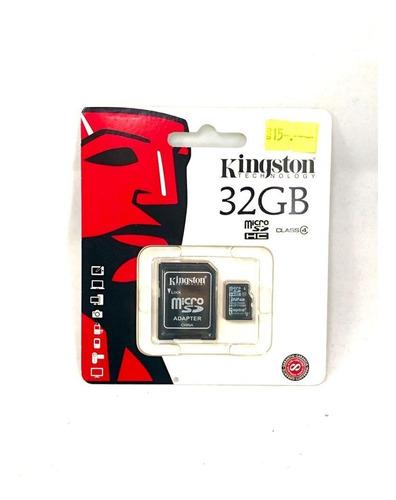 Tarjeta Memoria Kingston Micro Sd 32gb Clase 4. Pyh