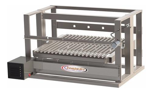 Churrasqueira Levante Grill 615 Inox+grelha Motor 4 Espetos