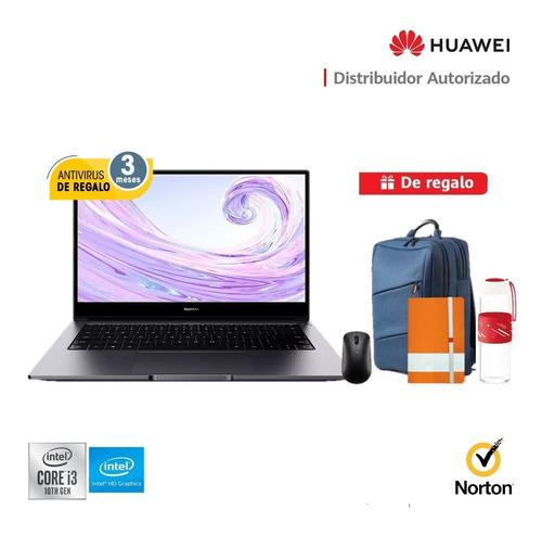 Imagen 1 de 7 de Laptop Huawei Matebook D14 I3 8gb Ram, 256gb Ssd + Regalos