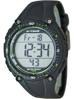 Reloj Hombre Deportivo 150 Laps Sumergible X-time 001 Verde