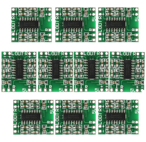 Imagen 1 de 4 de 10 Pam8403 (10 Piezas) Amplificador De Audio Clase D 2 X 3w