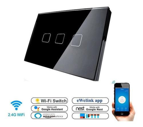 Switch Wifi Interruptor 3 Táctil Control Luz Desde Celular