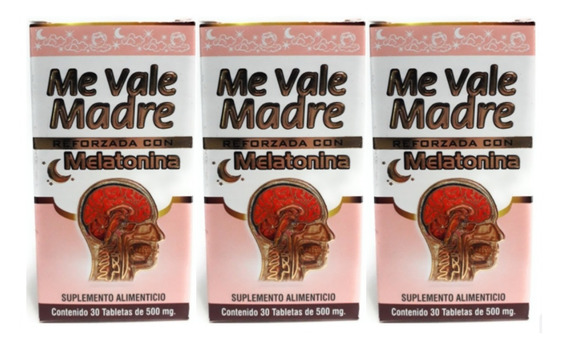 Me Vale Madre Con Melatonina Nutrimed 30 Tabs 3pz Envio Full