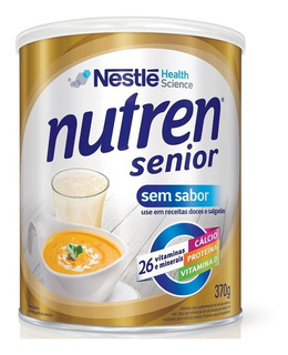 Nutren Senior Sem Sabor Suplemento Alimentar Lata 370g Vl.20