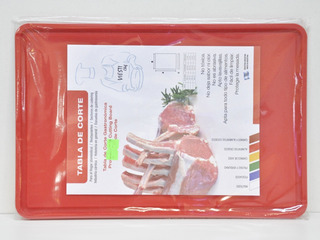 Tabla De Corte Gastronomica 20x30 Multiuso Roja