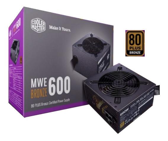 Fonte Cooler Master Atx Mwe 600w 80 Plus Bronze Pfc Ativo