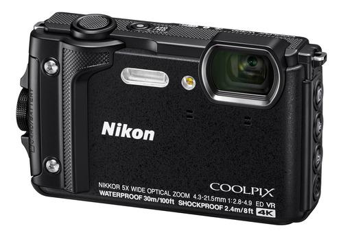 Câmera Nikon Coolpix W300 Wifi Gps À Prova D Água - Preta