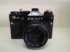 Máquina Fotográfica Antiga Zenit 12 Xp Com Capa