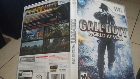 Jogo Wii Call Of Duty Word At War Original Wii Com Encarte